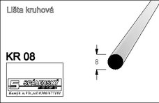Lišta KR08-Buk 90cm
