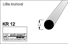 Lišta KR12-Buk 90cm