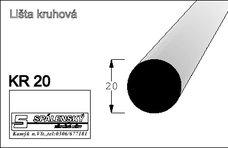 Lišta KR20-Buk 90cm