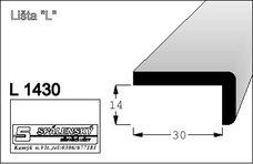 Lišta L1430 nastav.smrk