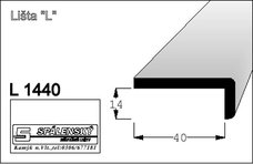Lišta L1440 nastav.smrk 2400