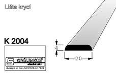lišta K2004 nastav. smrk 2000 mm