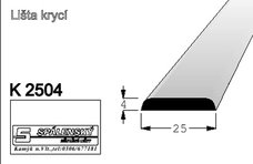 lišta K2504 nastav.smrk 2000 mm