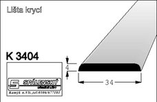 lišta K3404 nastav.smrk 2000 mm