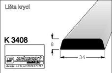 lišta K3408 nastav.smrk 2000 mm