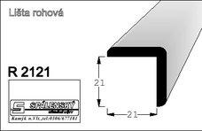 lišta R2121 nastav.smrk 2000 mm