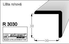 lišta R3030 nastav.smrk 2000 mm