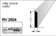 Lišta RV2504 nastav.smrk 2400