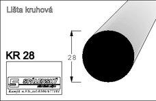 Lišta KR 28 nastav.smrk 2400  mm
