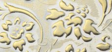 LL FLORAL White/Gold mat 2600x1000 NA 13419