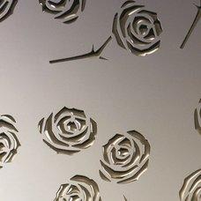 PL 3D Roses  Champagne PF met/Gold NA 13918